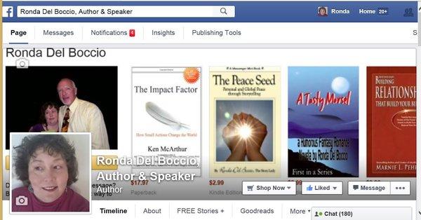 Award Winning & Best Selling Author Ronda Del Boccio's Books On Amazon