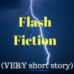 Flash fiction image showing lightning